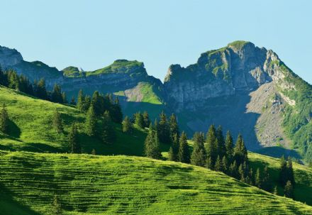 Photo wallpaper Swiss Mountains Gstaad
